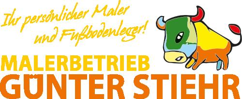 Logo Malerbetrieb Günter Stiehr - Ihr persönlicher Maler und Fußbodenleger!